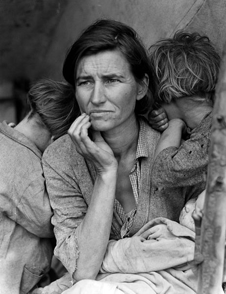 This photo of Florence Owens Thompson and her three young children in California was taken in 1936. Amid the Great Depression