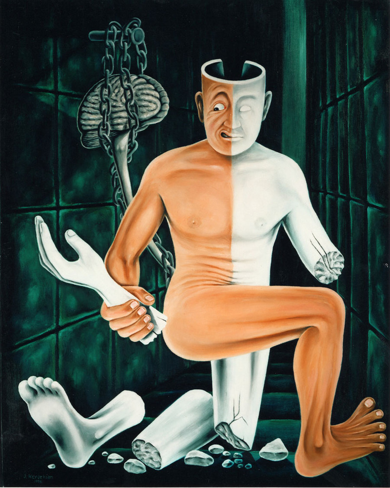 """""""Paralysis""""  28X34 inches - oil on canvas - 1996 - $45,000"""