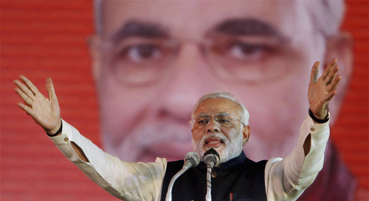 Opposition candidate Narendra  Modi will be the next prime minister of India.