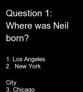 "1. Los Angeles<br> 2. <strong> <a href=""http://www.haydenplanetarium.org/tyson/profile"" target=""_blank"">New York City</a></st"