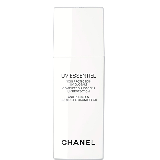 "$55, <a href=""http://www.chanel.com/en_US/fragrance-beauty/Skincare-Sun-Protection-UV-ESSENTIEL-136792"" target=""_blank"">Chane"