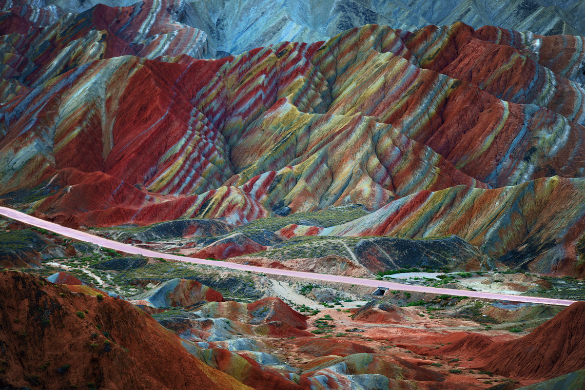 """This mountain range appears to be Dr. Seuss inspired. The trippy landscape (yes, <a href=""""http://www.huffingtonpost.com/2013/"""