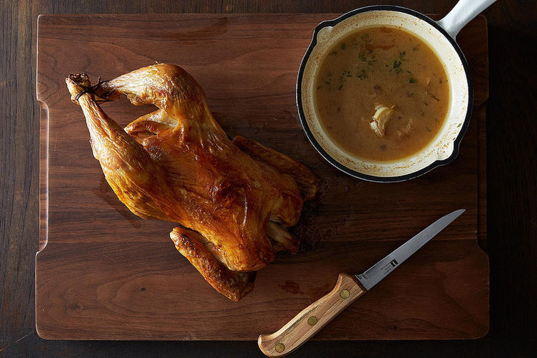 "<strong>Get the <a href=""http://food52.com/recipes/24217-the-best-roast-chicken-with-garlic-and-herb-pan-sauce"" target=""_blan"