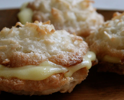 "<strong>Get the <a href=""http://honestcooking.com/passover-coconut-macaroons-with-meyer-lemon-curd/"" target=""_blank"">Passover"