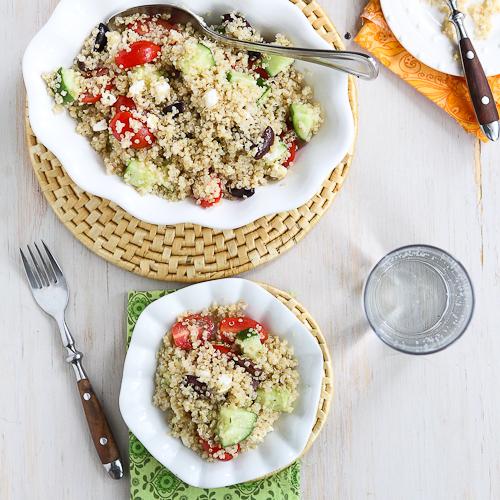 "<strong>Get the <a href=""http://www.cookincanuck.com/2013/06/quinoa-greek-salad-tomato-cucumber-feta-cheese/"" target=""_blank"""