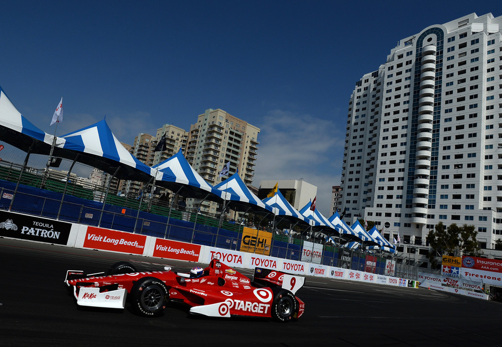 Scott Dixon placed 12th in Long Beach, Calif., over the weekend.