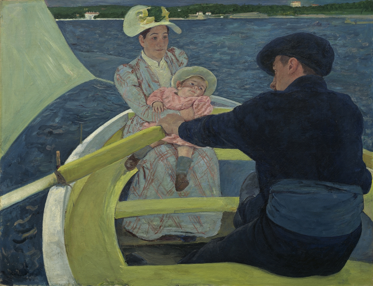 Mary Cassatt, The Boating Party, 1893/1894. Oil on canvas. 35 7/16 x 46 3/16 in. National Gallery of Art, Washington, Chester