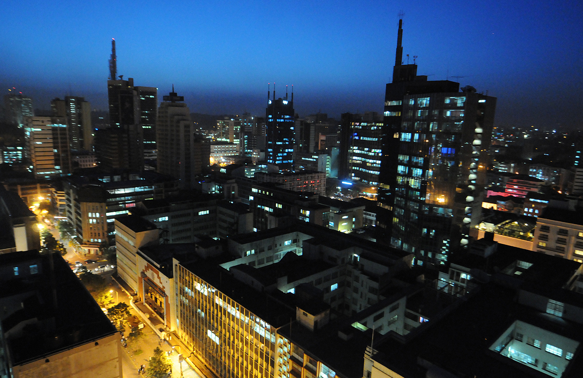The Emerging Cities Outlook notes that fast-rising Nairobi is an important center of regional politics.  <br><em>A night view
