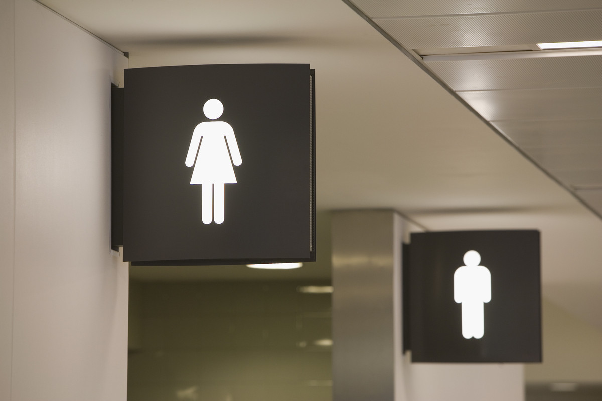 (There's probably an equally-bad situation in the men's room, but it's never mentioned with the frequency of ladies rooms.) I