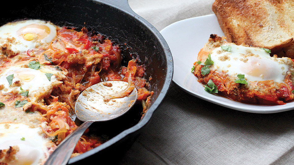 Shakshouka -- a popular Israeli and Tunisian dish where eggs are poached in tomato sauce -- is speedy, delicious and a strong