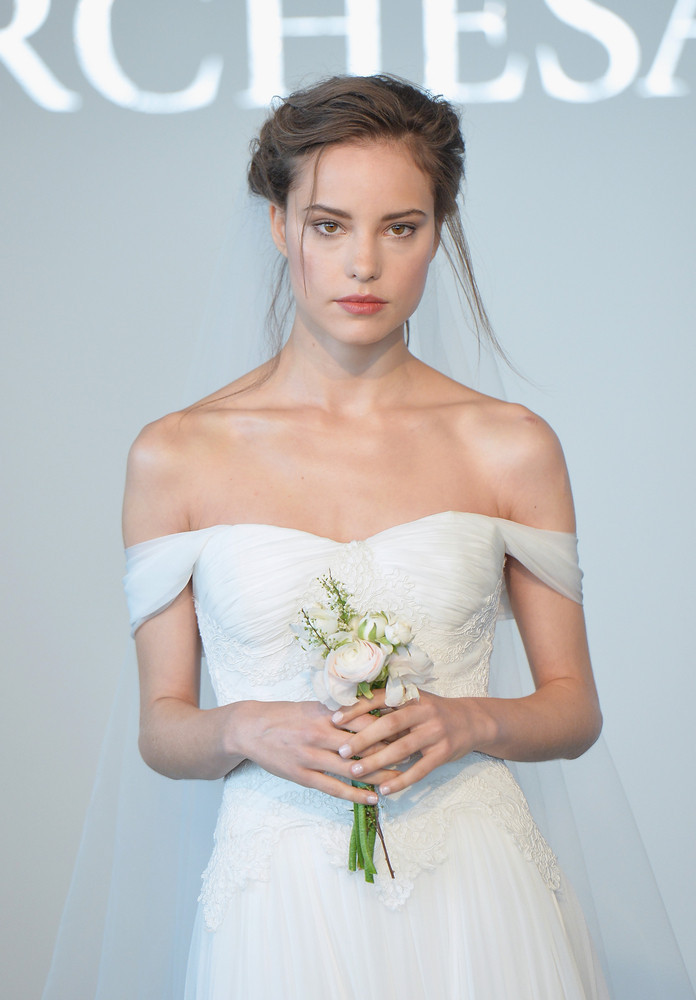This romantic style ruled the runways this year and it's easy to see why: the princess look is perfectly bridal. <em>Pictured