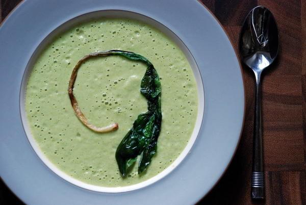 "<strong>Get the <a href=""http://food52.com/recipes/21925-cold-asparagus-yogurt-soup"" target=""_blank"">Cold Asparagus Yogurt So"
