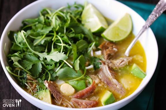 """<strong>Get the <a href=""""http://www.gimmesomeoven.com/carnitas-caldo-carnitas-soup/"""" target=""""_blank"""">Carnitas Caldo recipe</a"""