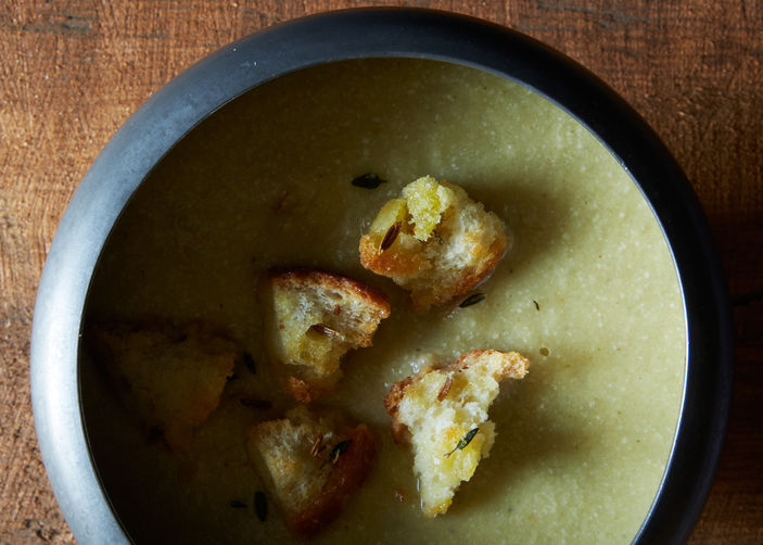 """<strong>Get the <a href=""""http://food52.com/recipes/21484-thyme-scented-fennel-and-leek-soup"""" target=""""_blank"""">Thyme-Scented Fe"""