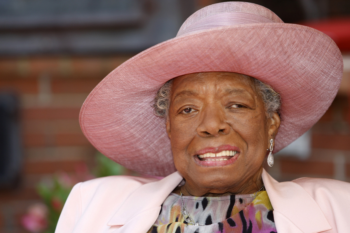 """<a href=""""http://www.amazon.com/Angelou-Blooms-BioCritiques-Cindy-Dyson/dp/0791061779"""" target=""""_blank"""">""""Angelou settled into a"""