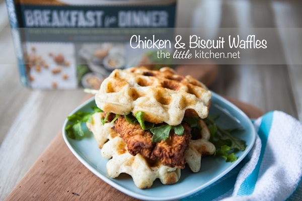 "<strong>Get the <a href=""http://www.thelittlekitchen.net/chicken-biscuit-waffles-recipe/"" target=""_blank"">Chicken and Biscuit"
