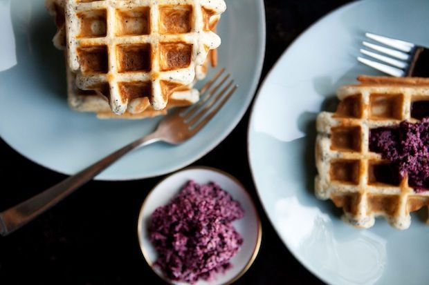 "<strong>Get the <a href=""http://food52.com/blog/7874-weekday-waffles-with-maple-blueberry-butter"" target=""_blank"">Weekday Waf"