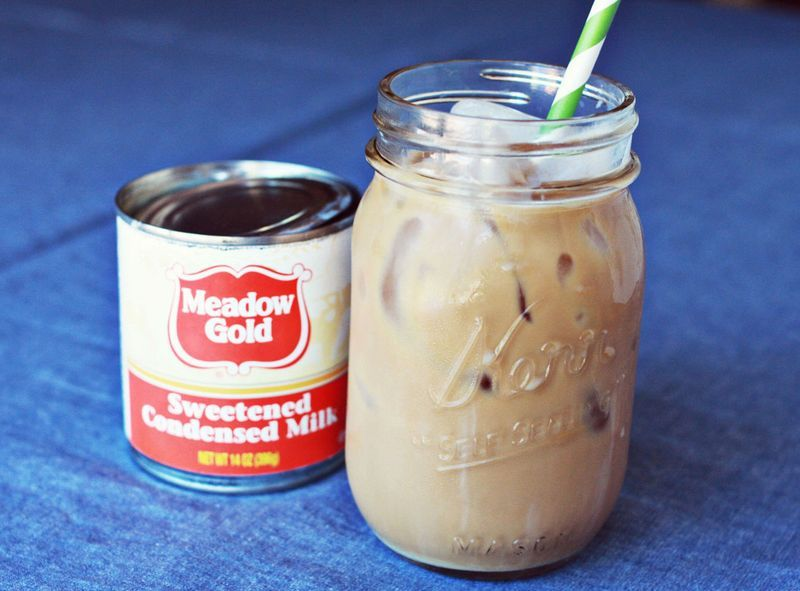 """<strong>This one here is made with sweetened condensed milk. Get this <a href=""""http://www.abeautifulmess.com/2012/06/homemade"""