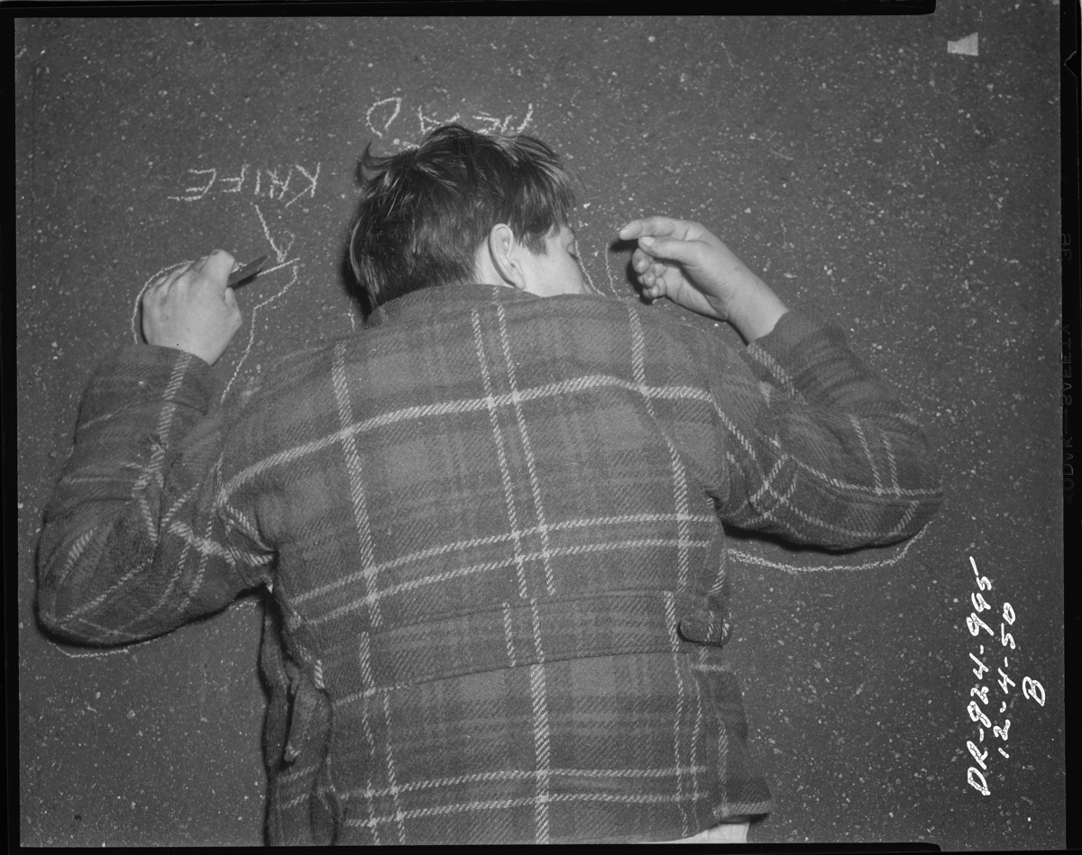 Crime Scene Photographs From The 1920s 1960s Give A