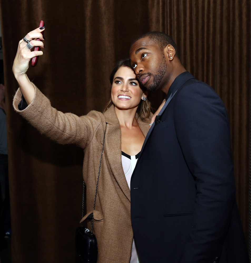 """Nikki Reed and Jay Pharoah attend the """"Intramural"""" premiere after party during the 2014 Tribeca Film Festival at Neuehouse on"""