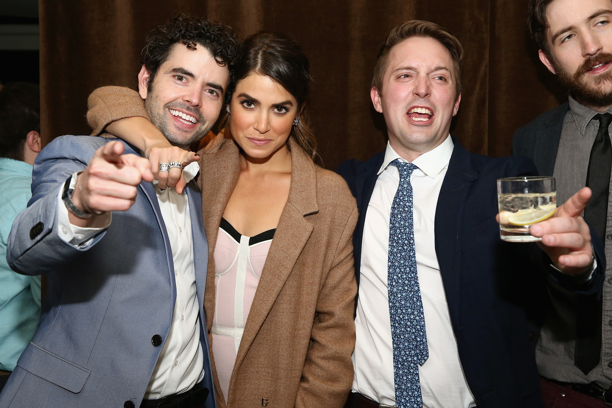 """Nick Rutherford, Nikki Reed and Beck Bennett attend the """"Intramural"""" premiere after party during the 2014 Tribeca Film Festiv"""