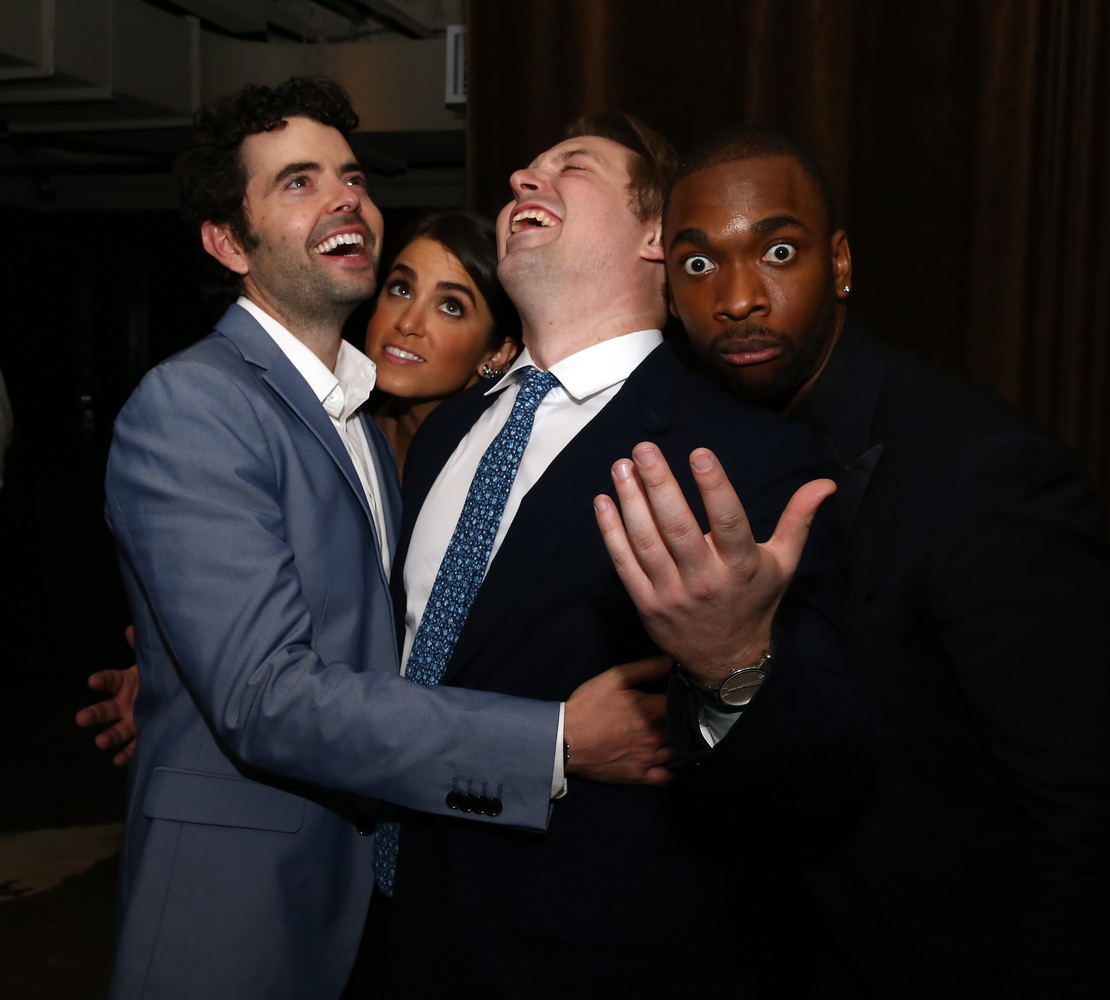 """Nick Rutherford, Nikki Reed, Beck Bennett and Jay Pharoah attend the """"Intramural"""" premiere after party during the 2014 Tribec"""