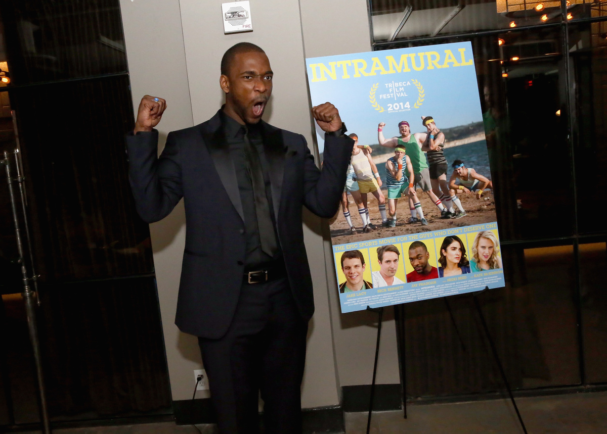 """Jay Pharoah attends the """"Intramural"""" premiere after party during the 2014 Tribeca Film Festival at Neuehouse on April 21, 201"""