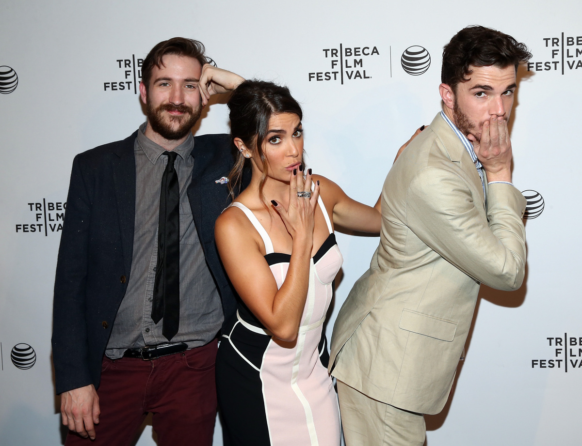 """Brian McElhaney, Nikki Reed and Nick Kocher attend the """"Intramural"""" Premiere during the 2014 Tribeca Film Festival at AMC Loe"""