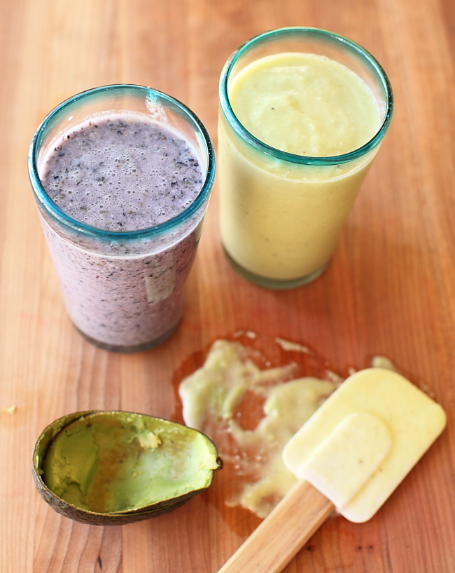 "<strong>Get the <a href=""http://scarlettabakes.com/two-smoothies-for-your-face/"" target=""_blank"">Avocado Mango Smoothie</a> r"