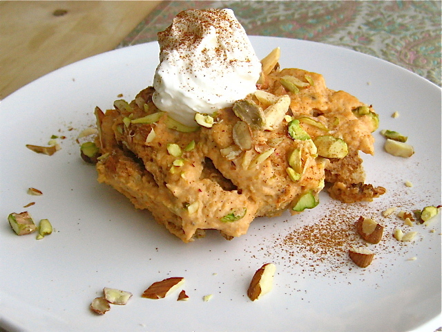 """<strong>Get the <a href=""""http://food52.com/recipes/7643-shahi-tukray-with-pumpkin-a-royal-bread-pudding"""" target=""""_blank"""">Roya"""