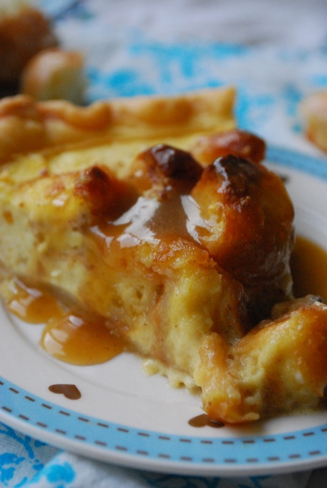 """<strong>Get the <a href=""""http://thedomesticrebel.com/2012/11/20/donut-bread-pudding-pie/"""" target=""""_blank"""">Donut Bread Pudding"""