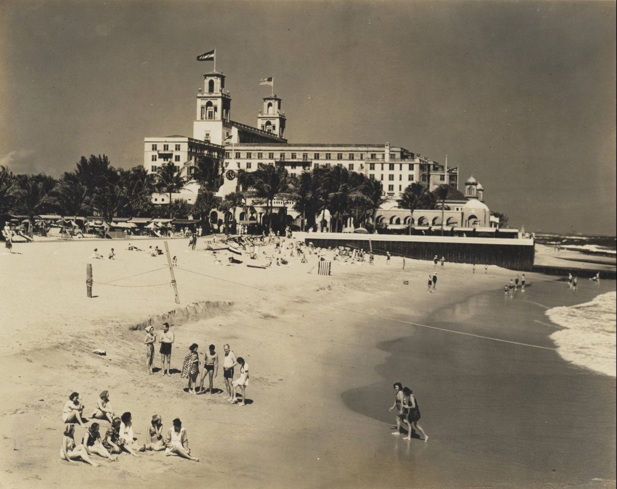Historical Image, Breakers Beach, The Breakers Palm Beach