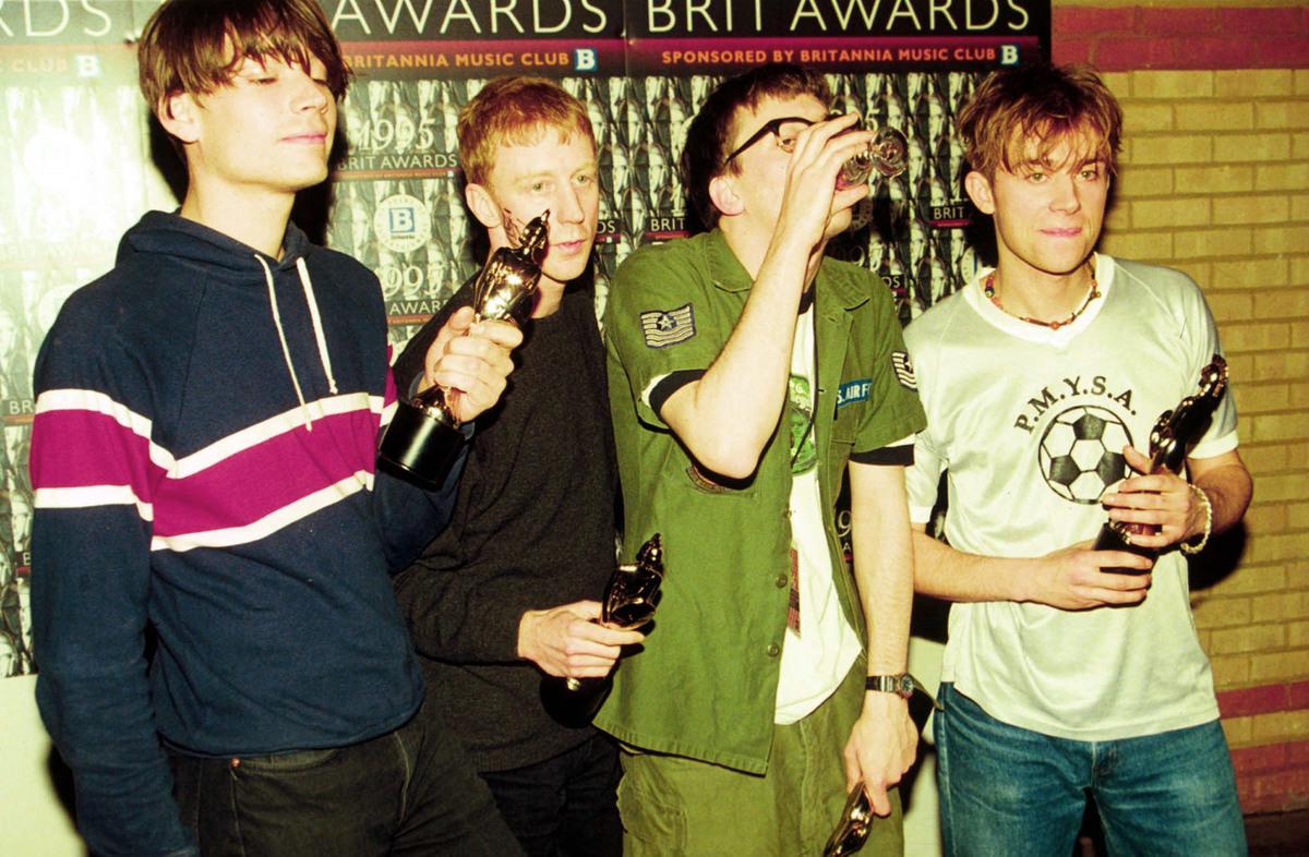 Blur celebrate with their four awards