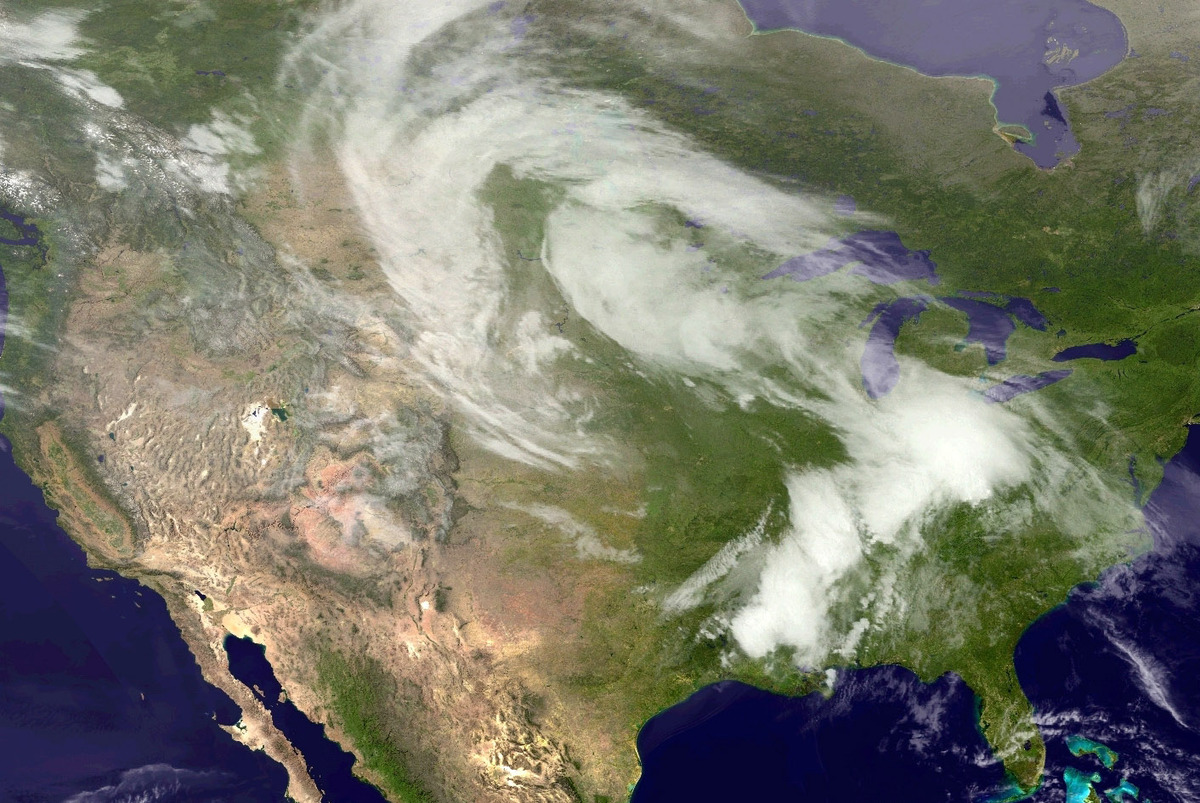 UNITED STATES - APRIL 28: In this handout provided by the National Oceanic and Atmospheric Administration (NOAA) from the GOE