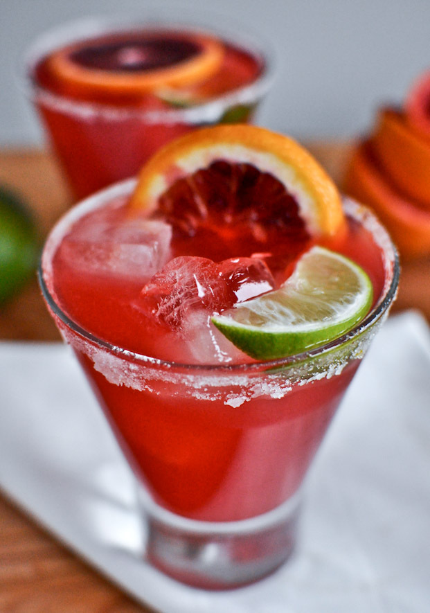 "<strong>Get the <a href=""http://www.howsweeteats.com/2012/01/blood-orange-margaritas/"" target=""_blank"">Blood Orange Margarita"