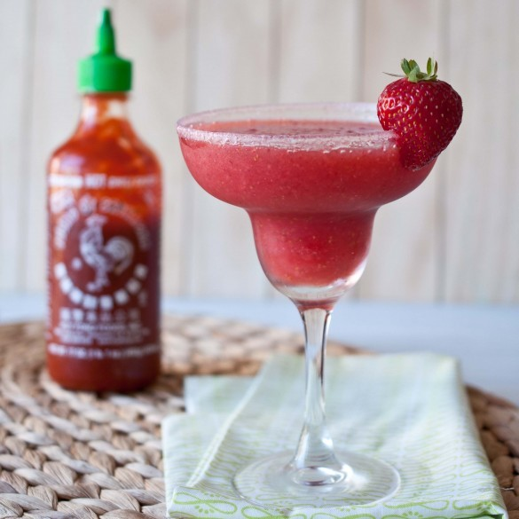 "<strong>Get the <a href=""http://domesticfits.com/2012/07/30/strawberry-sriracha-margarita/"" target=""_blank"">Strawberry Srirac"