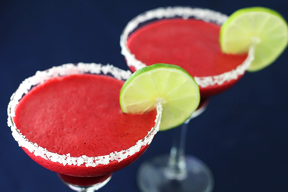 "<strong>Get the <a href=""http://www.gimmesomeoven.com/blackberry-lime-margaritas/"" target=""_blank"">Blackberry Lime Margaritas"