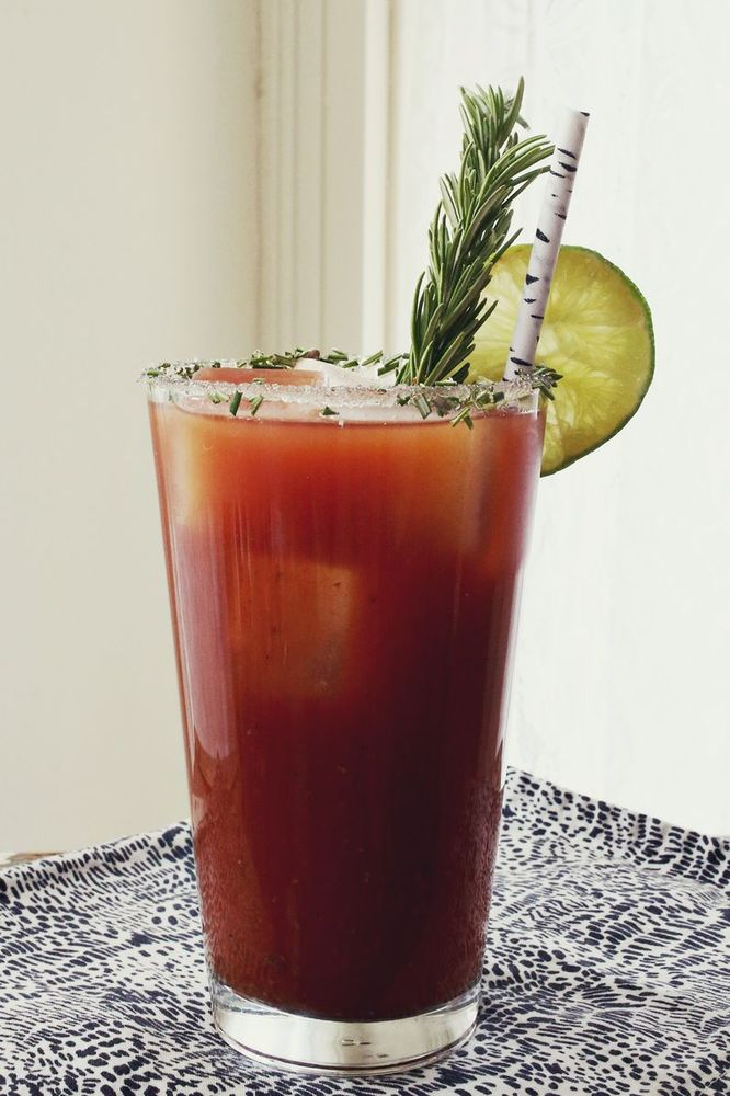 "<strong>Get the <a href=""http://www.abeautifulmess.com/2013/11/rosemary-bloody-mary.html"" target=""_blank"">Rosemary Bloody Mar"