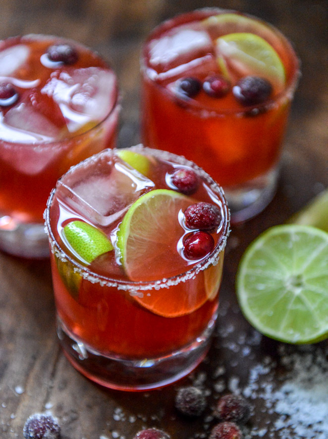 """<strong>Get the <a href=""""http://www.howsweeteats.com/2013/11/fresh-cranberry-ginger-vanilla-margaritas-and-sugared-cranberrie"""