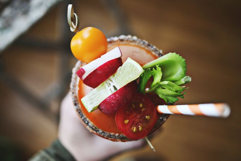 "<strong>Get the <a href=""http://www.abeautifulmess.com/2013/04/carrot-bloody-maria-.html"" target=""_blank"">Carrot Bloody Maria"