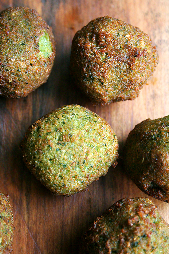 "<strong>Get the <a href=""http://www.alexandracooks.com/2012/05/09/falafel-with-lima-bean-salad/"" target=""_blank"">Homemade Fal"