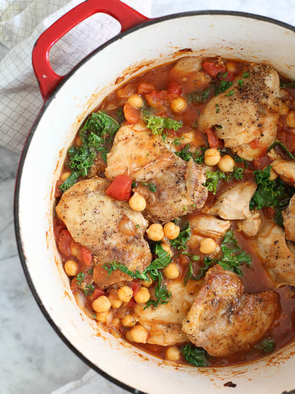 "<strong>Get the <a href=""http://www.foodiecrush.com/2013/10/tabasco-braised-chicken-chickpeas-kale/"" target=""_blank"">Tabasco"