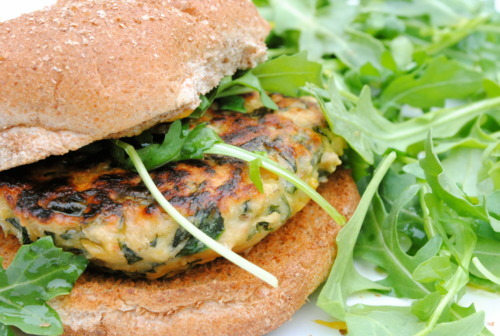 "<strong>Get the <a href=""http://bevcooks.com/2011/04/spinach-and-chickpea-burgers/"" target=""_blank"">Spinach and Chickpea Burg"