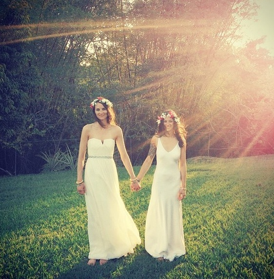 """""""Shelly Lynch-Sparks and Anna Maltezos became Mrs. and Mrs. Lynch-Sparks on April 25, 2014, on Vieques Island, Puerto Rico."""""""