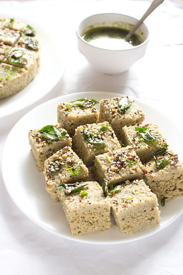 "<strong>Get the <a href=""http://www.vegrecipesofindia.com/moong-dal-dhokla-recipe/"">Moong Dal Dhokla</a> recipe from Veg Reci"