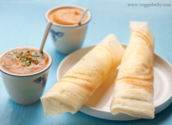 "<strong>Get the <a href=""http://www.veggiebelly.com/2011/03/perfect-dosa-recipe.html"">Dosa</a> recipe from Veggie Belly</stro"