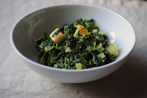"<strong>Get the <a href=""http://food52.com/recipes/8650-saag-paneer"" target=""_blank"">Saag Paneer</a> recipe by Merrill Stubbs"
