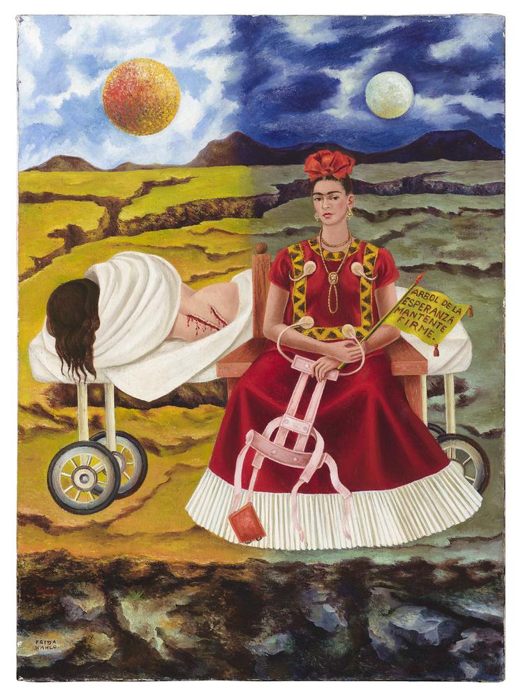 Frida Kahlo, Arbol de la Esperanza (Tree of Hope), 1946. Private Collection, Chicago. © 2014 Banco de México Diego Rivera Fri