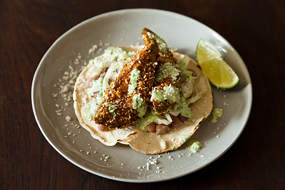 "<strong>Get the <a href=""http://food52.com/recipes/17974-fried-avocado-tacos-with-sesame-and-lime"" target=""_blank"">Fried Avoc"