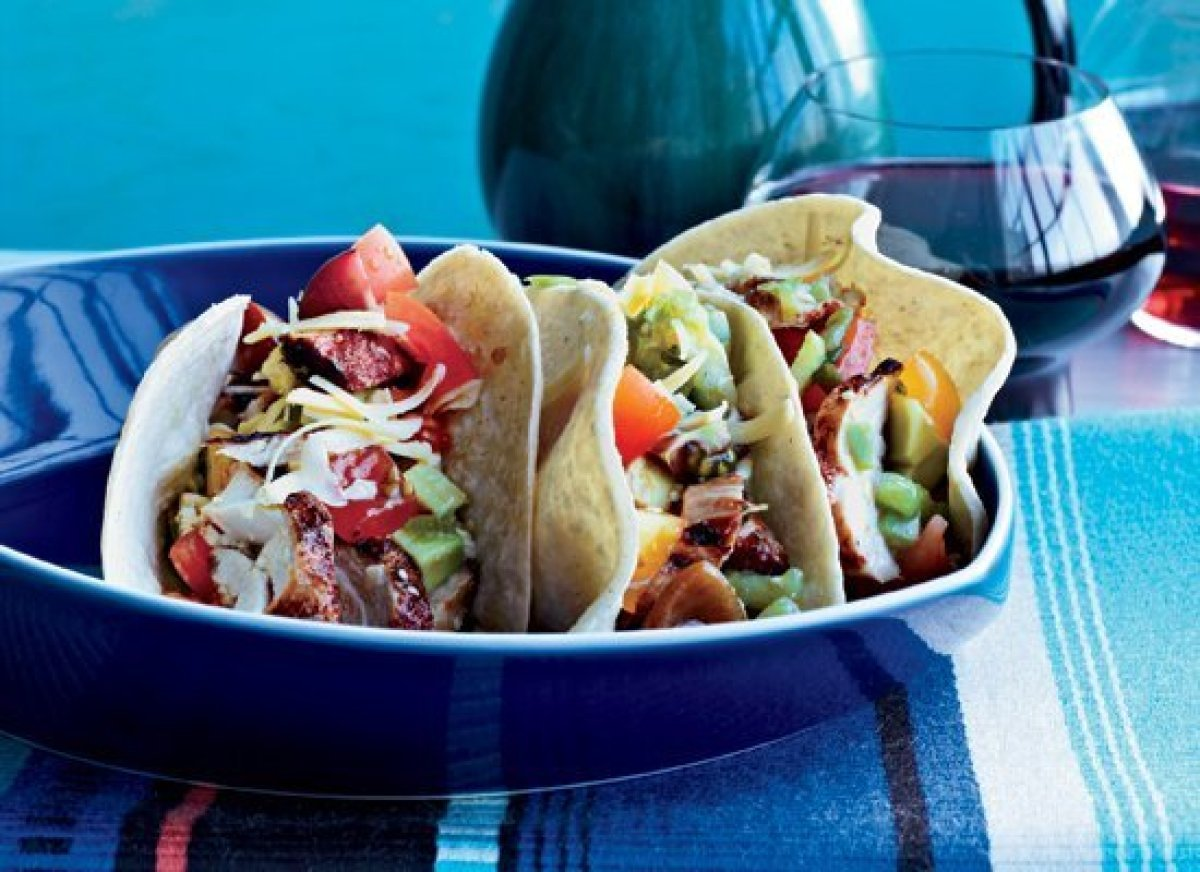 "<strong>Get the Recipe for <a href=""http://www.huffingtonpost.com/2011/10/27/grilled-chicken-tacos_n_1058438.html"" target=""_h"